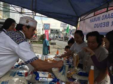 DPD Perindo Kota Lubuklinggau Gelar Bazar Murah hingga Bagi-Bagi Takjil