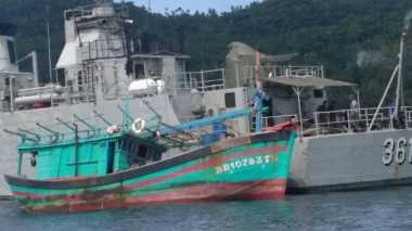 Tepergok Curi Ikan di Kepulauan Natuna, TNI AL Tangkap Kapal Berbendera Vietnam