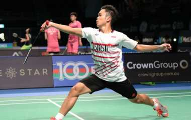 Gagal Ulangi Kesuksesan, Anthony Ginting Kandas di Tangan Chen Long pada Babak 16 Besar Australia Open 2017