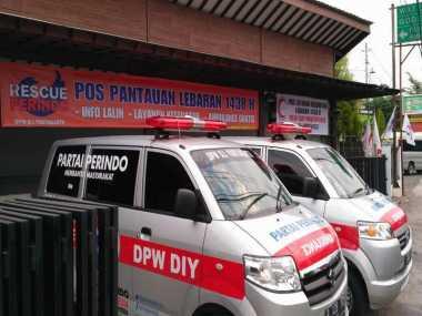 Layani Pemudik, Posko Mudik Rescue Perindo di Sleman Dilengkapi Kursi Pijat