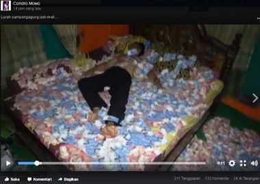 Wabup Mojokerto Akan Panggil Kades yang Tidur di Atas Tumpukan Uang