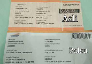 Tiket Palsu yang Ditemukan di Stasiun Pasar Senen Kayak Uang Mainan