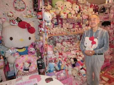 Siapa Sangka, Pria Jepang Ini Pengoleksi Hello Kitty Terbanyak di Dunia