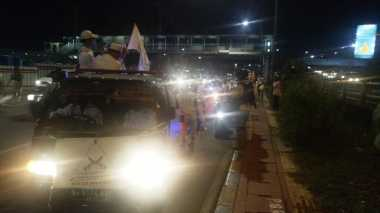 Rombongan Konvoi Takbir Keliling FPI Kembali ke Petamburan