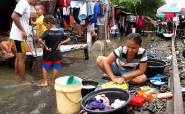 Kasihan, 34 KK di Gorontalo Lebaran di Pengungsian Akibat Banjir