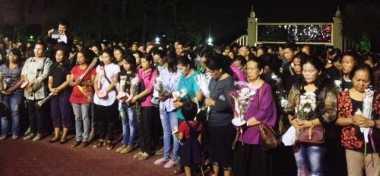 Ratusan Warga Medan Gelar Tabur Bunga untuk Ipda Sigalingging