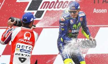 Raih Kemenangan Ke-10 di Assen, Rossi: Kami Akan Merayakannya