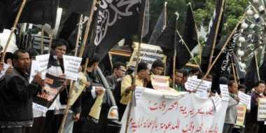 Dibubarkan Pemerintah, HTI Yogyakarta Mulai Berbenah Atribut Organisasinya
