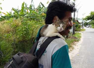 Pak Ijal, Pemulung yang Dianggap Gila karena Selalu Bawa Kucing, tapi Ternyata...