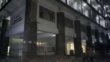 Ornamen Tiang Gedung CADL Runtuh, Enam Mahasiwa ITB Terluka