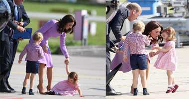 Putri Charlotte Terlihat Ngambek, Ada Apa Ya?