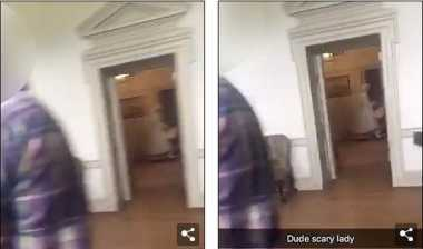 Bikin Merinding!! Pemudi di AS Tak Sengaja Merekam Hantu Wanita saat Berwisata di Istana