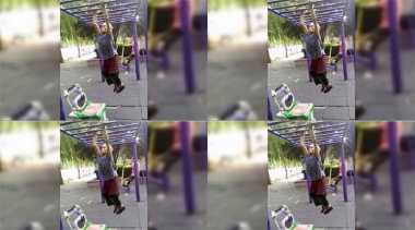 Viral! Aksi Seorang Nenek Bergelayutan di Monkey Bar Demi Jaga Kebugaran
