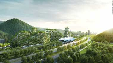 Wow! China Akan Bangun Forest City Seluas 342 Hektar dengan Teknologi Panel Surya