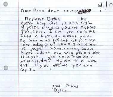 Wah! Sampaikan Kekagumannya terhadap Trump, Bocah 9 Tahun Kirim Surat ke Gedung Putih