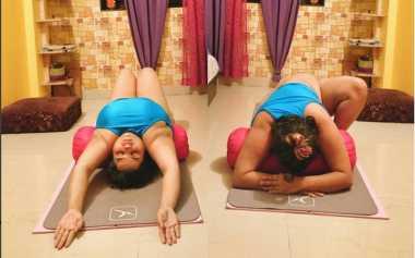 TOP!! Wanita Ini Buktikan Orang Gemuk Bisa Lakukan Gerakan Yoga Tersulit