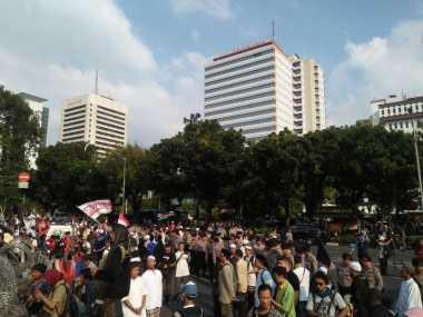 Tuntas Sampaikan Aspirasi, Massa Aksi 287 Mulai Membubarkan Diri