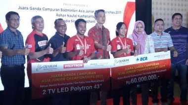 Sukses Juarai AJC 2017, Rehan/Fadia Dapatkan Bonus Rp60 Juta