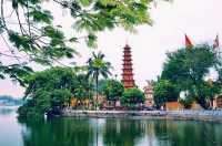 Tran Quoc, Pagoda Merah Tertua di Hanoi
