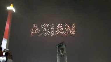 Warnai Langit Jakarta, 300 Stone Bentuk Formasi Indah nan Cantik