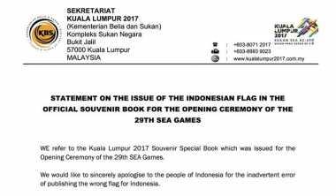 Bendera Indonesia Terbalik, Ini Pernyataan Resmi Pemerintah Malaysia