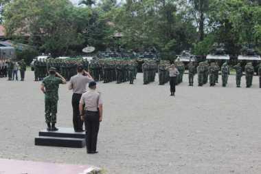 Mantap! Cegah Aksi Susulan di Timika, TNI-Polri Lakukan Apel Gabungan