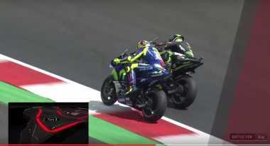 Di Turn 3 Red Bull Ring, Rossi dan Zarco Sajikan Duel Sengit Rider Yamaha