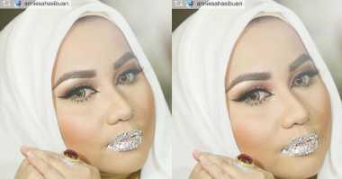 """VIRAL! Foto Bibir Anniesa Hasibuan Berhiaskan Kristal Swarovski, Netizen: """"Ya Allah..."""""""