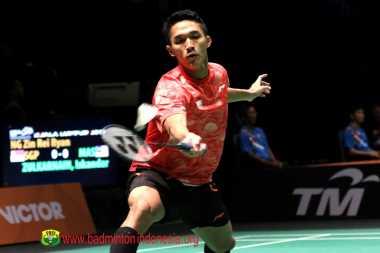 Sumbang Poin Pertama Indonesia di Semifinal Bulu Tangkis Beregu Putra, Jonatan Semringah