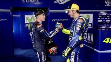 Vinales: Jika Tidak Menang,  Saya Lebih Suka Rossi yang Jadi Juara!