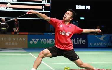 Duh! 3 Tunggal Putra Indonesia Langkahnya Terhenti di Kejuaraan Dunia Bulu Tangkis 2017