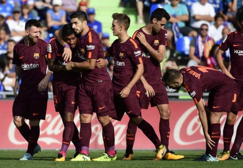 Kalahkan Getafe 2-1, Barcelona Makin Kukuh di Puncak Klasemen Sementara Liga Spanyol 2017-2018