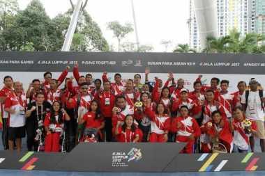 Kontingen Indonesia Sabet Juara Umum ASEAN Para Games 2017, Menpora: Ini Berkat Pelatihan Nasional
