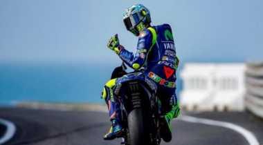 Meski Start dari Urutan Ke-3 GP Aragon, Rossi Akui Tahan Sakit di Sesi Kualifikasi