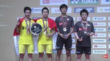 Menang Mudah atas Wakil Tuan Rumah, Marcus/Kevin Sabet Gelar Juara Jepang Open 2017