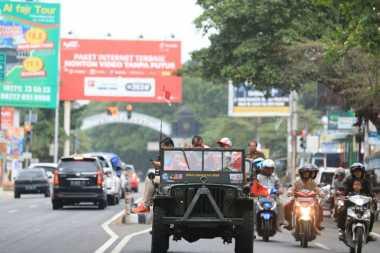 Tiba di Tanah Air, Atlet ASEAN Para Games dan Rombongan Diarak di Kota Solo