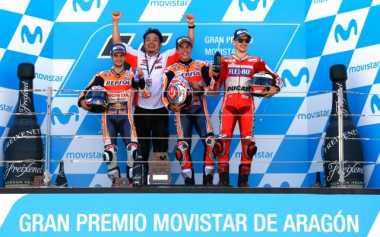 Honda Dominasi Balapan di MotoGP Aragon, Rossi: Mereka Lakukan Hal yang Luar Biasa!