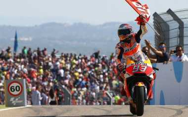 Juara MotoGP Aragon 2017, Ini Bentuk Selebrasi Unik Marc Marquez