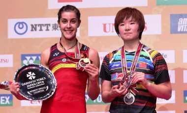 Kembali Raih Gelar Superseries di Jepang Open 2017, Marin: Saya Berjuang Keras Lawan He Bingjiao