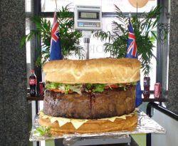 Burger terbesar di dunia (Foto: Reuters)