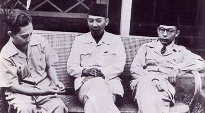 Soekarno, Hatta, dan Sjahrir (Foto: Istimewa)