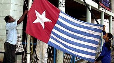 Ilustrasi pengibaran Bendera Bintang Kejora di Papua Nugini. (Foto: Reuters)