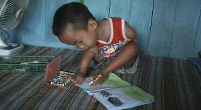 Zaenuri, bocah TK cacat fisik. (Dok: Sun TV)