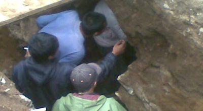 Terowongan diduga peninggalan Belanda di Pangalengan. (Foto: okezone)