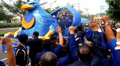 Pawai budaya Partai NasDem. (Foto: okezone)