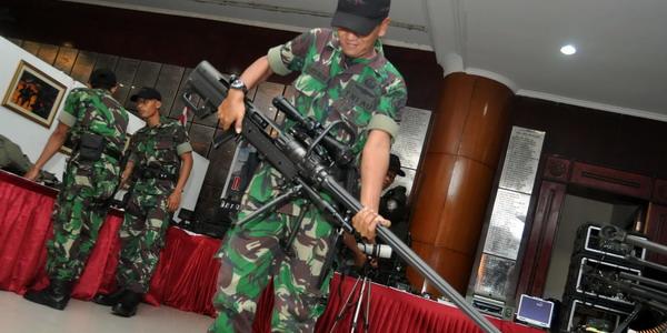 Senjata canggih penghancur tank baja (Foto: Runi Sari B/Okezone)