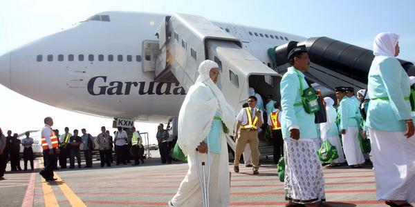 Jemaah haji di Bandara King Abdul Aziz, Jeddah (Foto: SINDO)