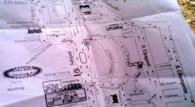 Ilustrasi peta arus lalu lintas Bandung. (Foto: okezone)