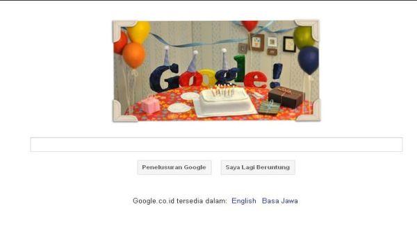 Ultah Google Dirayakan di Doodle