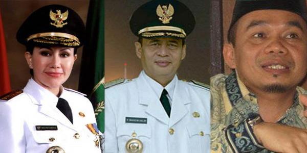 Tiga pasangan Calon Gubernur Banten (Foto: Dok Okezone)